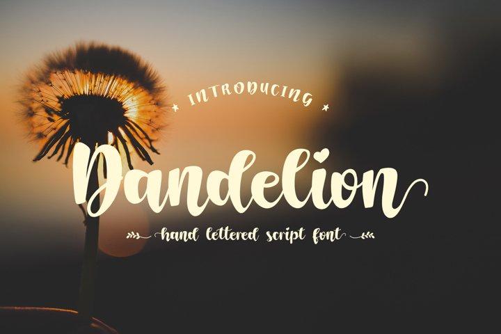 Dandelion - Handwritten Script Font