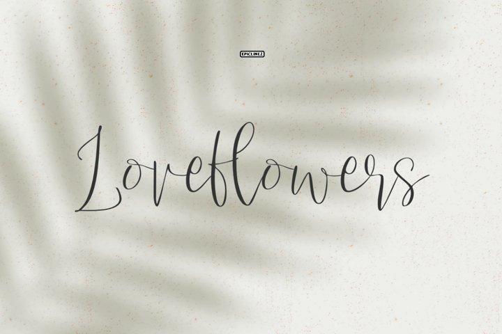 Love Flowers Script Font