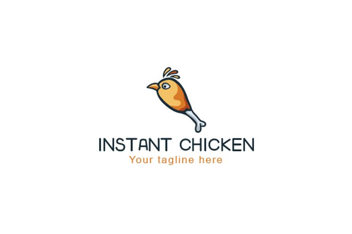 Instant Chicken - Food Logo Design Template