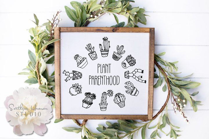 PLANT PARENTHOOD - SVG, PNG, DXF and EPS