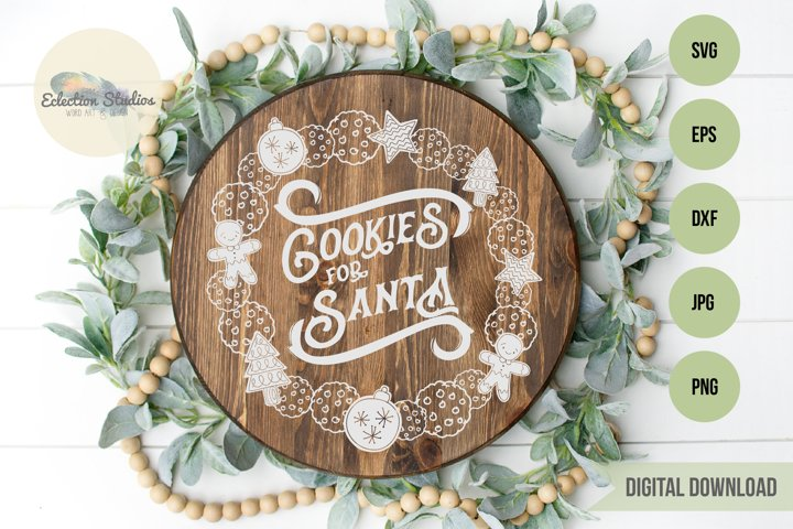 Cookies for Santa Plate SVG