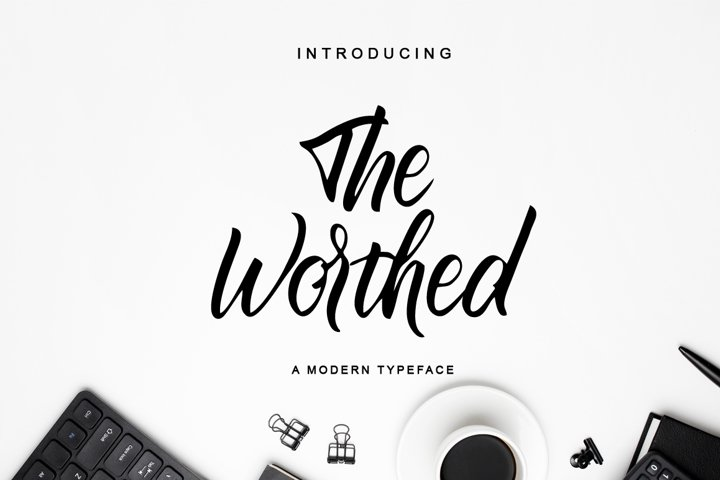 The Worthed / Bold Handwritten Font