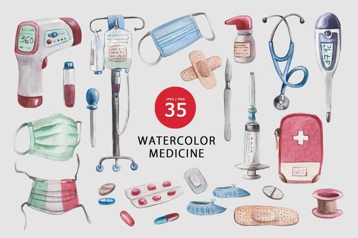 Watercolor medicine