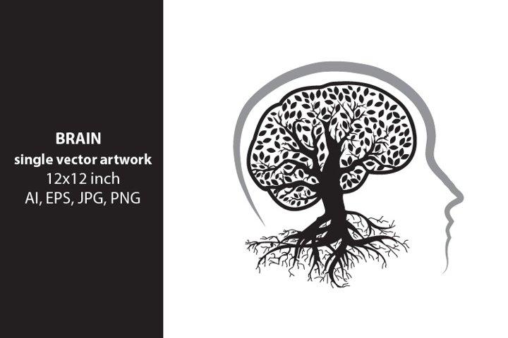 brain tree, vector