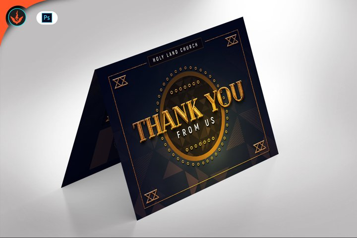 Gold Art Deco Gala Thank You Card Template