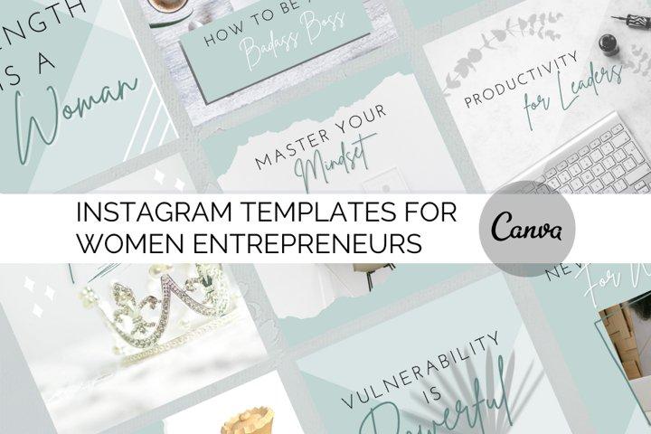 Canva Instagram Templates for Women Entrepreneuneurs