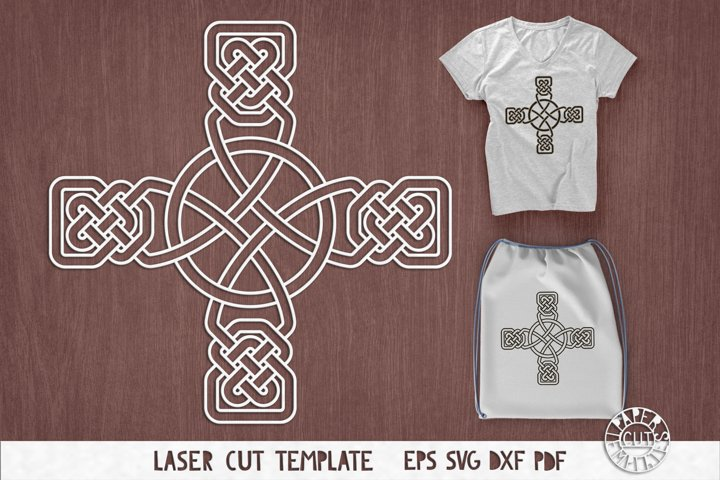 SVG Celtic cross for laser cutting, Cricut