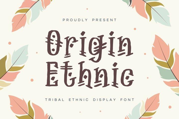 Origin Ethnic - Display Font