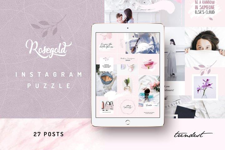Rosegold Instagram Puzzle