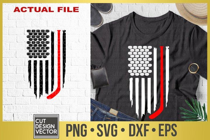 Distressed Hockey Flag SVG