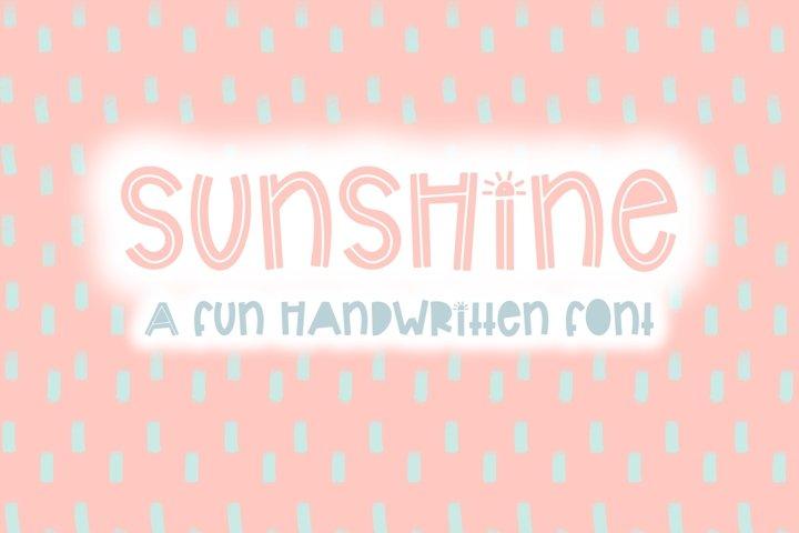 Sunshine | Bold Quirky Hand Written Font