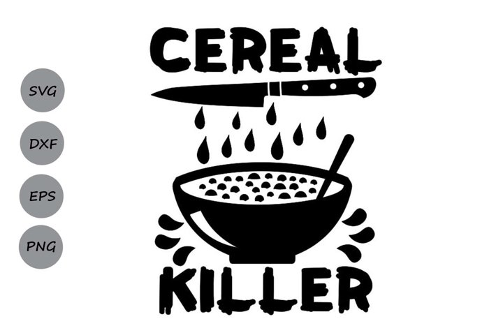 Cereal Killer Svg, Halloween Svg, Spooky Svg, Kids Halloween