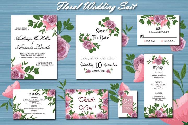Floral Wedding Invitation Suit