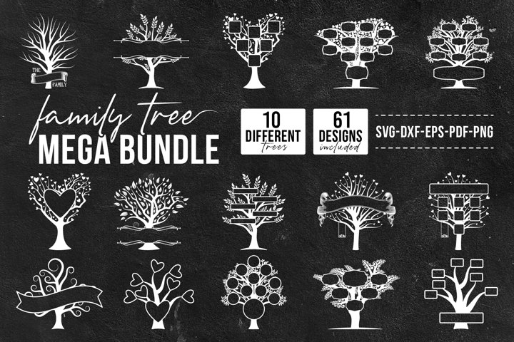 Family Tree Mega Bundle, Big SVG Bundle Of Tree/Family Tree