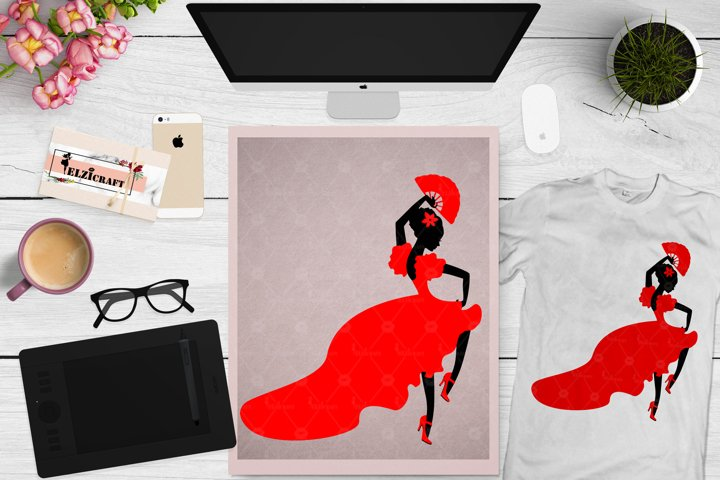 Afro Woman, Afro Puff, Afro Silhouette, Dress, Dancing SVG