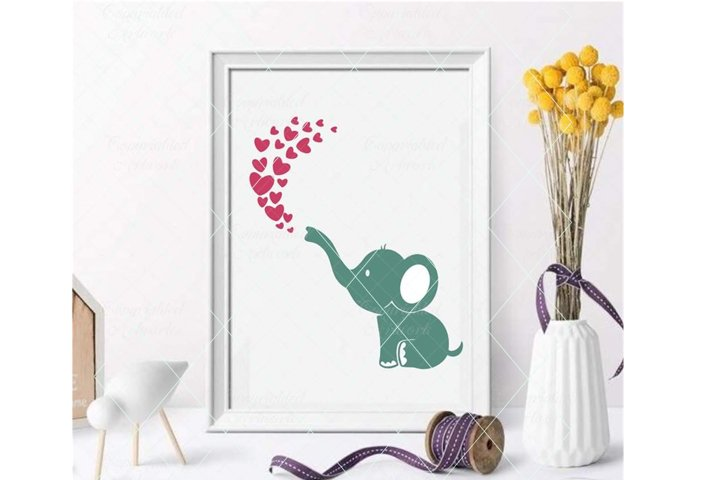 Baby elephant svg, cute elephant, baby shower cut file