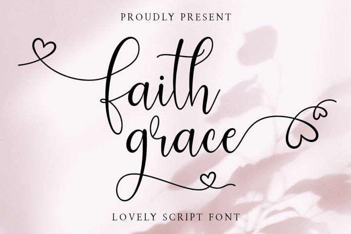 Faith Grace Lovely Script