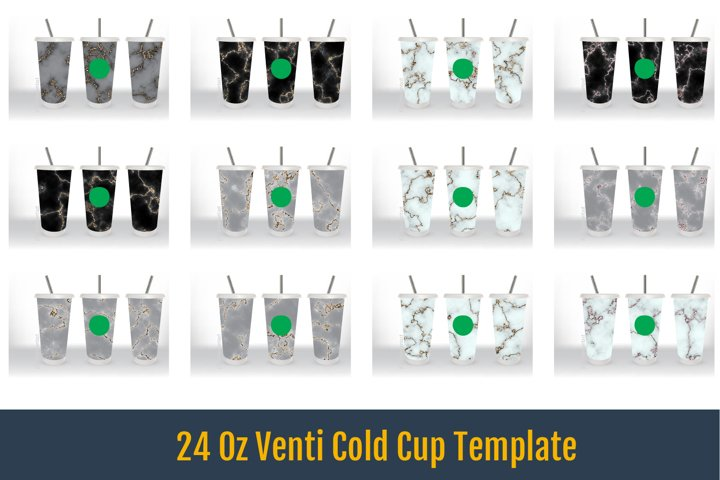 24 Oz Venti Cold Cup Template, Ultimate Gray Marble