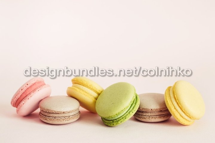 French macaroons cookies set