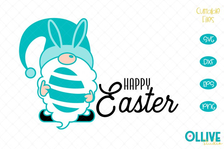 Gnome Happy Easter SVG