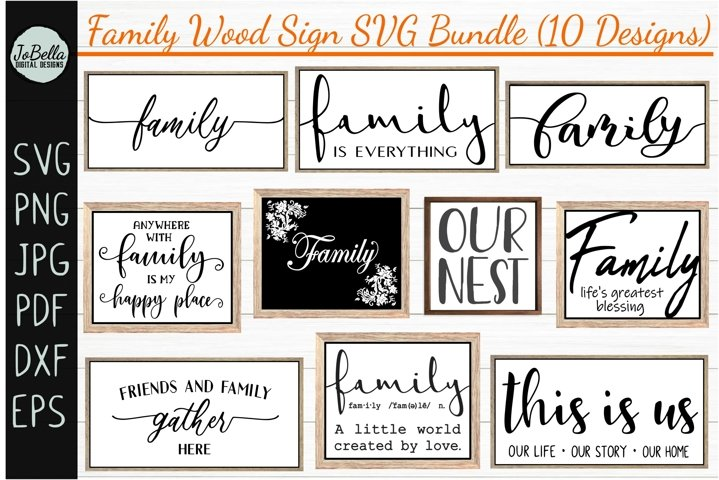 Family Wood Sign SVG Bundle - Farmhouse SVG Bundle