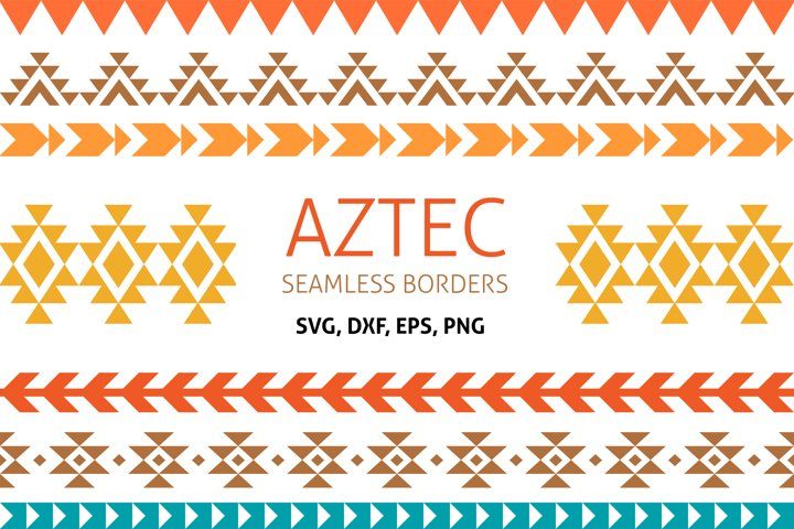 Native America AZTEC Border, seamless borders clipart, PNG
