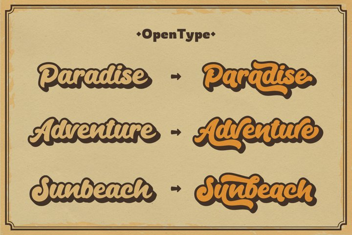 Andala - Retro Script Font example 3