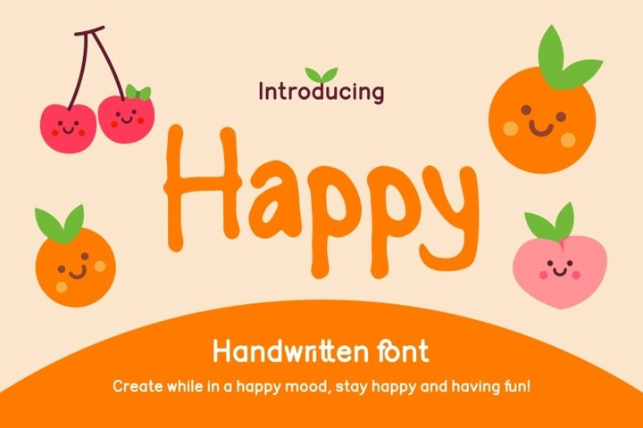 Happy Handwritten Font