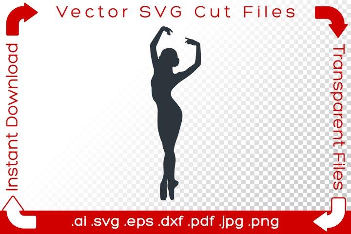 Woman SVG Silhouette Acrobat Ballet Dancer Gymnast Cut File