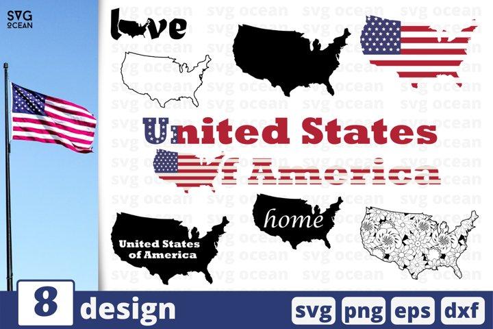 8 USA FLAG SVG BUNDLE | USA map svg | United states cricut
