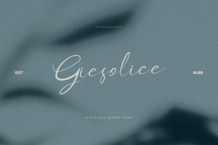 Giesolice Minimalis Script Font