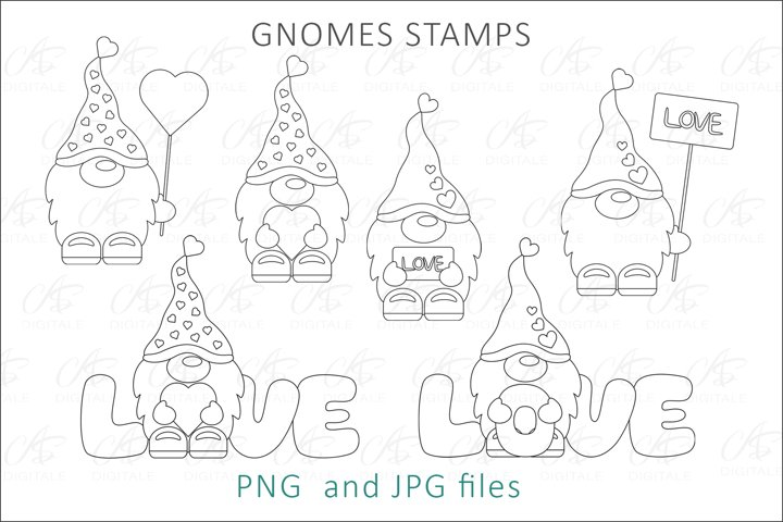 Gnome Digital Stamps