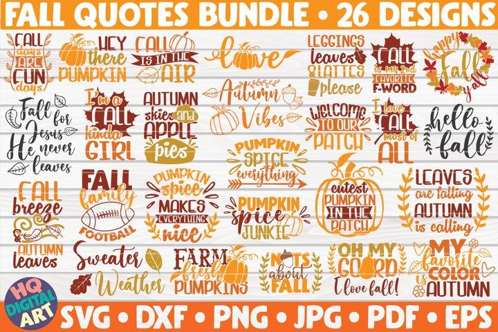 Fall quotes SVG Bundle | 26 designs