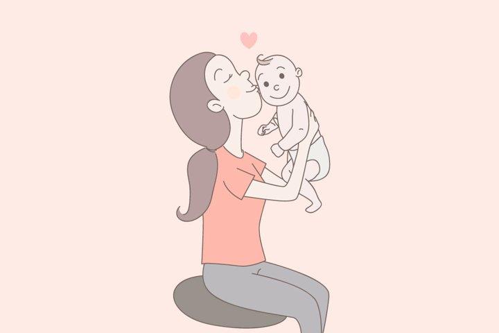 Happy mom.
