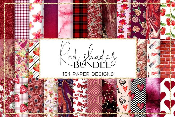 Red Shades BUNDLE digital paper pattern