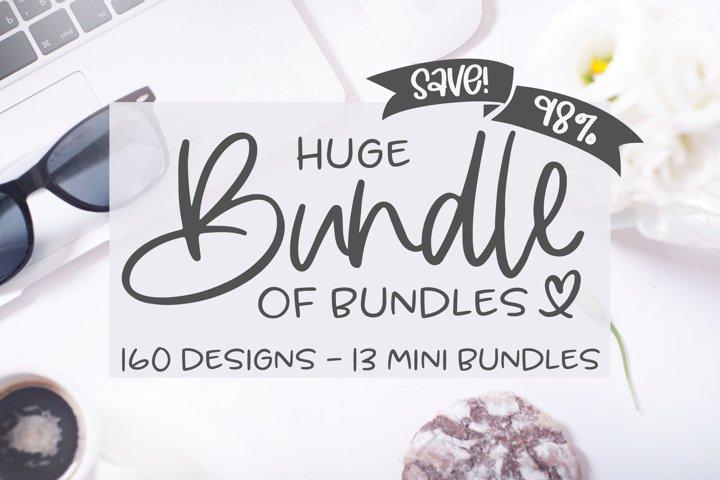 Huge Bundle Of Bundles - 160 SVG Designs - 13 Mini Bundles