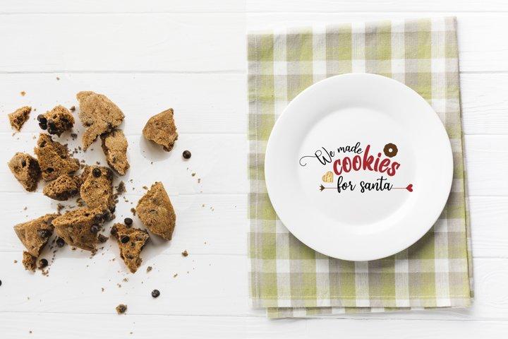 We made cookies for santa SVG Cut File