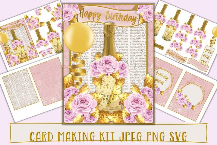 Card Making Kit SVG PNG and JPEG