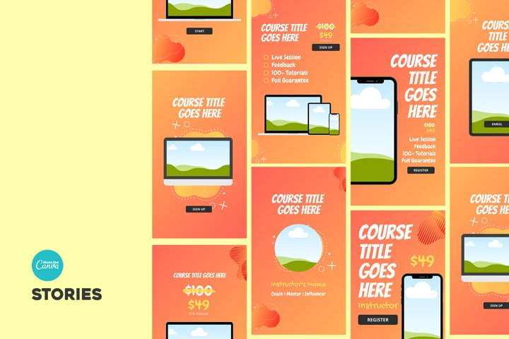 Canva e-Course Social Media Kit