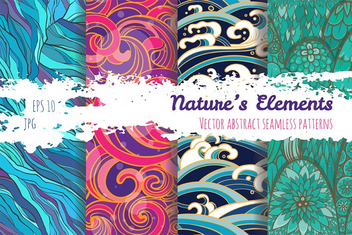 Set of patterns. Natures elements