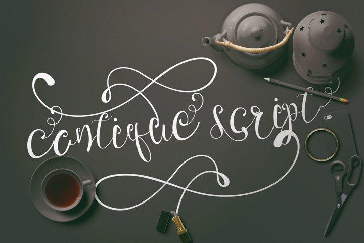 Cantique Script Calligraphy