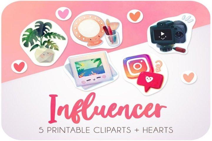 Influencer - Instagram sticker set
