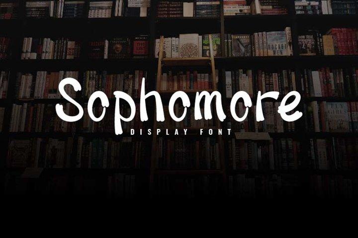 Sophomore-Display Font
