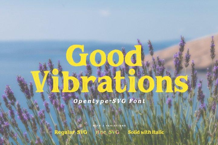 Good Vibrations   Opentype-SVG Font