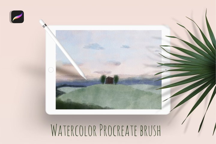 Watercolor fill brush for the Procreate.
