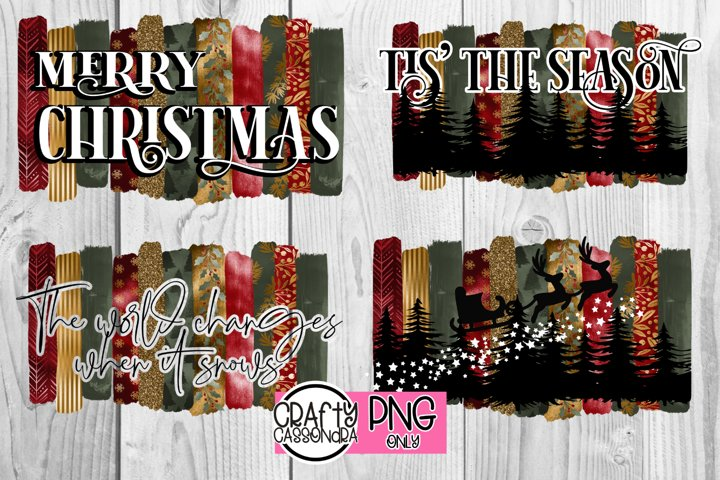 Christmas brush stroke png files for sublimation designing