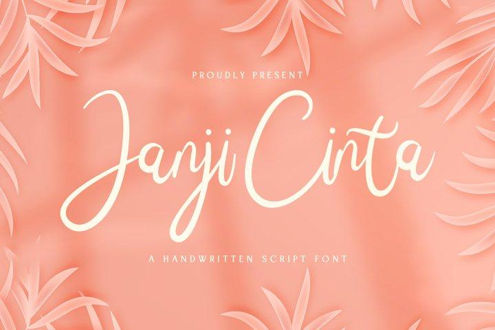 Janji Cinta - Handwritten Font