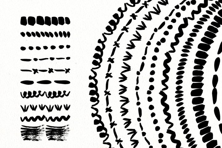 Ink Brushes. Vector hand drawn