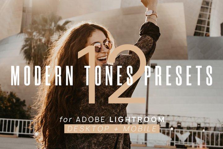 12 Modern Tones Presets for Lightroom Desktop & Mobile