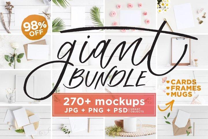 Mockups Giant Bundle - JPG PNG PSD